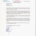 Carta El Comercio editor